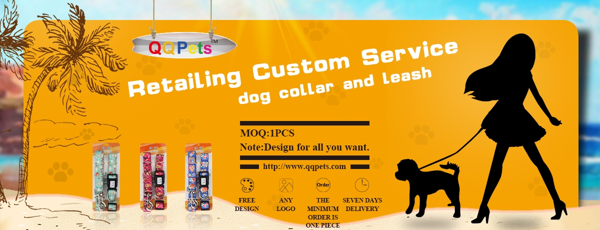 Retailing Custom Service Dog Collar and Leash